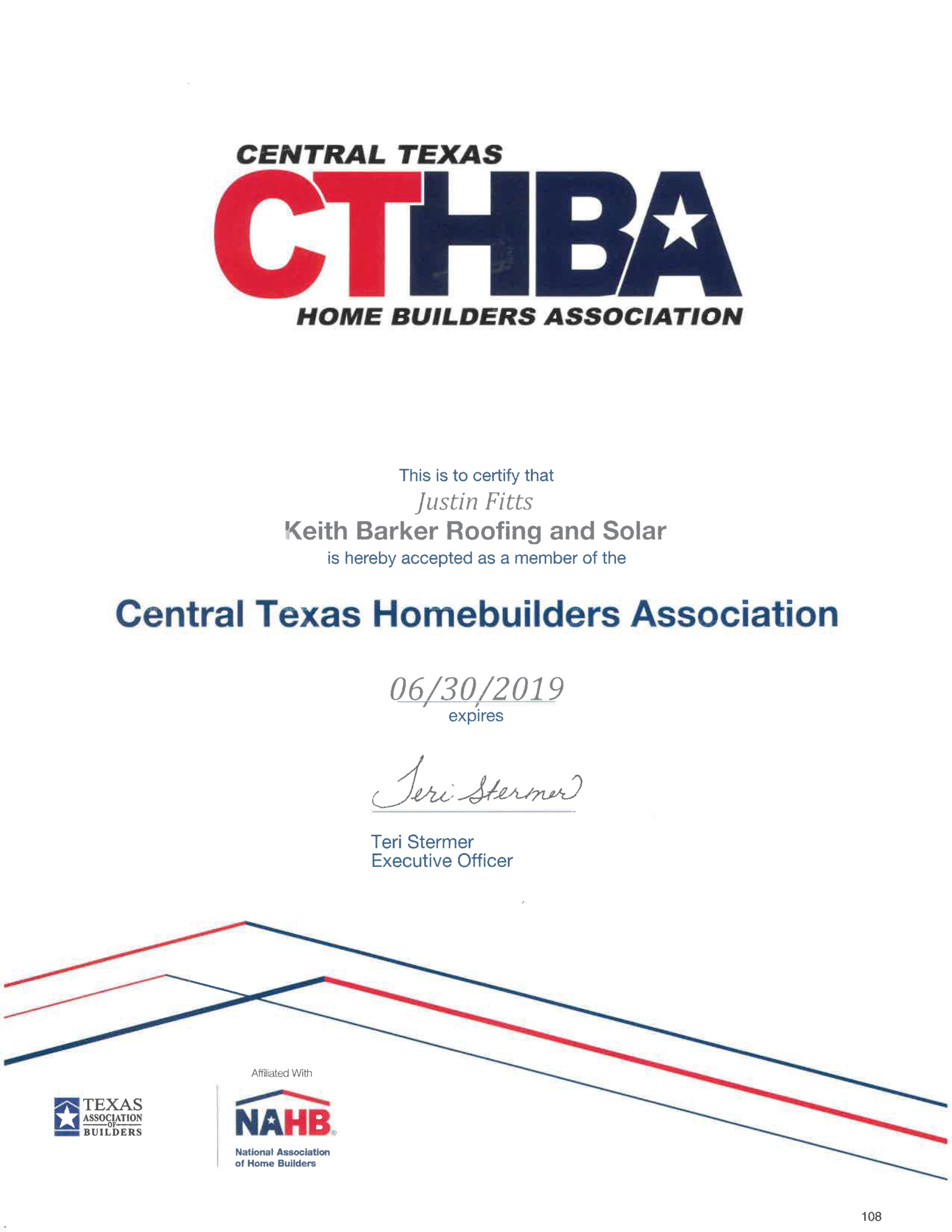 Our Professional Associations In Austin Barker Roofing